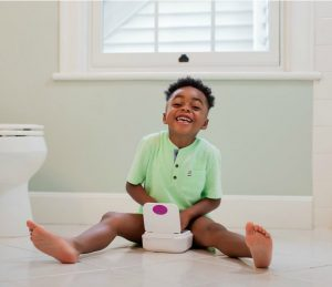 Boy with Kandoo® Flushable Wipes