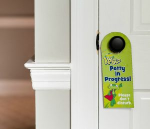 Potty in Progress! door hanger