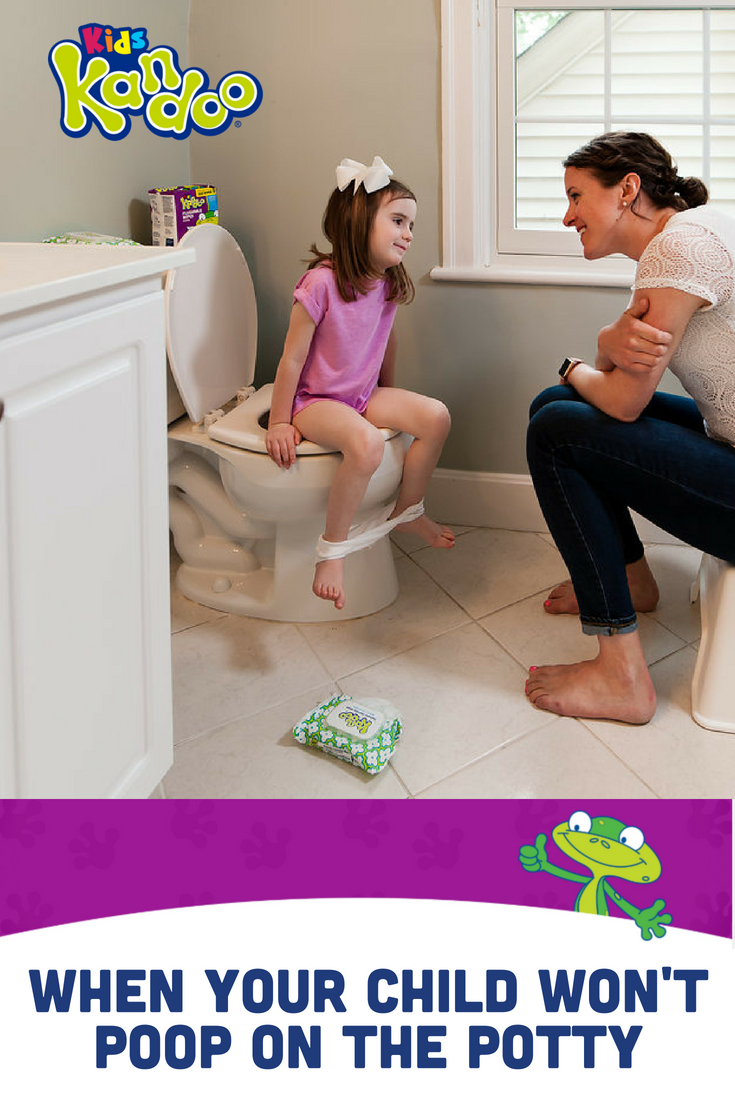 "For most toddlers, learning how to poop in the toilet is one of the biggest obstacles in potty training. Are you frustrated by your child's refusal to poop? These tried and true ideas are the perfect way to ""move"" things along and get your little one pooping in the toilet."