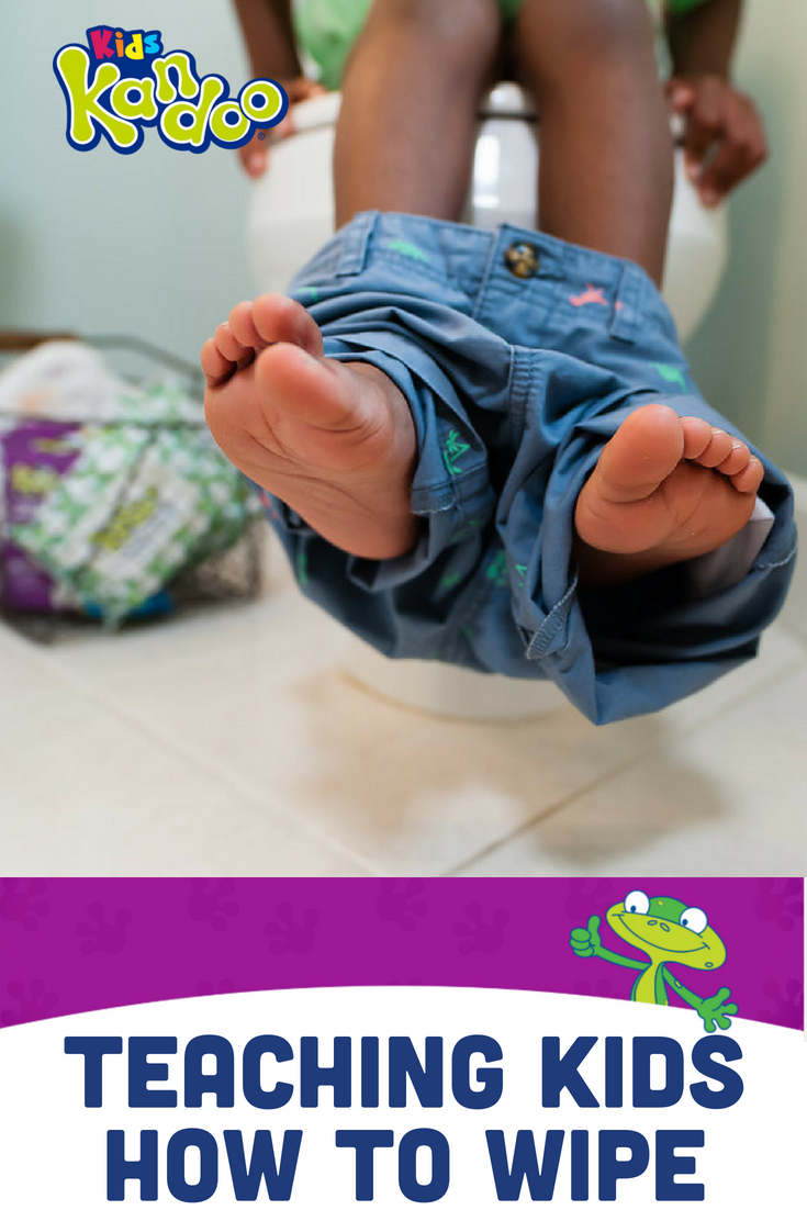 Once your child is potty trained, teaching him or her how to wipe is the next step. Here are several things to keep in mind when you teach kids how to wipe, plus a simple activity you can do in the kitchen to help them practice wiping.