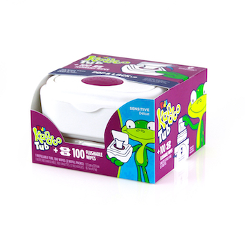 Kandoo® Flushable Wipes Tub