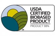 USDA certified biobased product. Product 98%