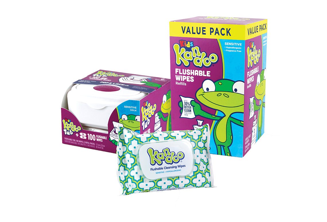 Kandoo® Flushable Wipes